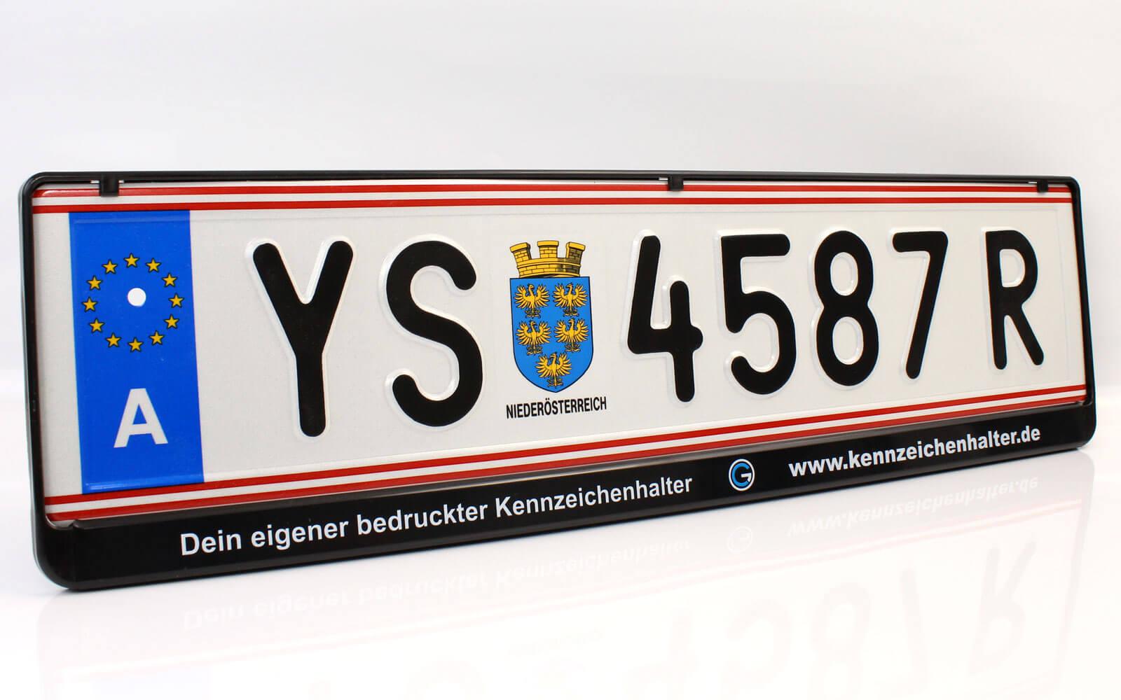 Österreich Kennzeichenhalter AT 520x120mm