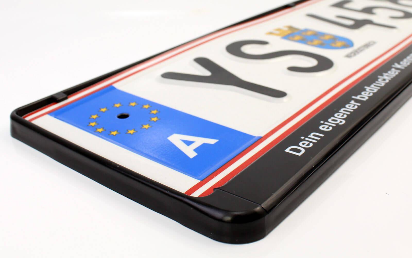 Kennzeichenhalter für österreichische Autoschilder im Format 520x120mm